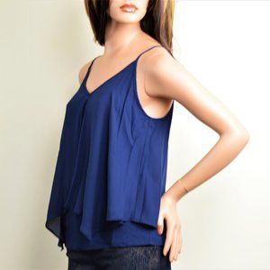 New! Green Envelope Navy  Fly Away Tank Top